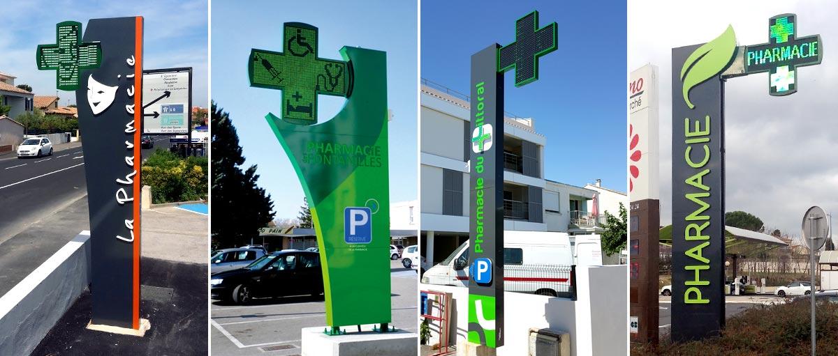 Plastimage - concepteur et fabriquant de totem de pharmacie à Narbonne & Occitanie