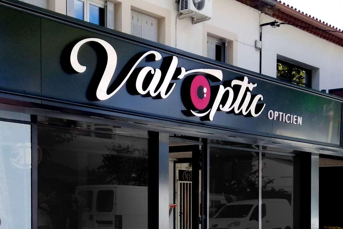 Plastimage - concepteur et fabriquant enseignes lettres boitiers à Narbonne & Occitanie - ValOptic