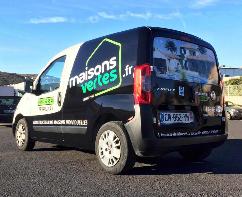 Plastimage - marquage et covering de véhicule à Narbonne en Occitanie - Maison Verte