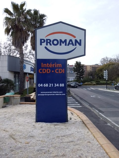 Plastimage - concepteur et fabriquant de totem à Narbonne & Occitanie - Proman