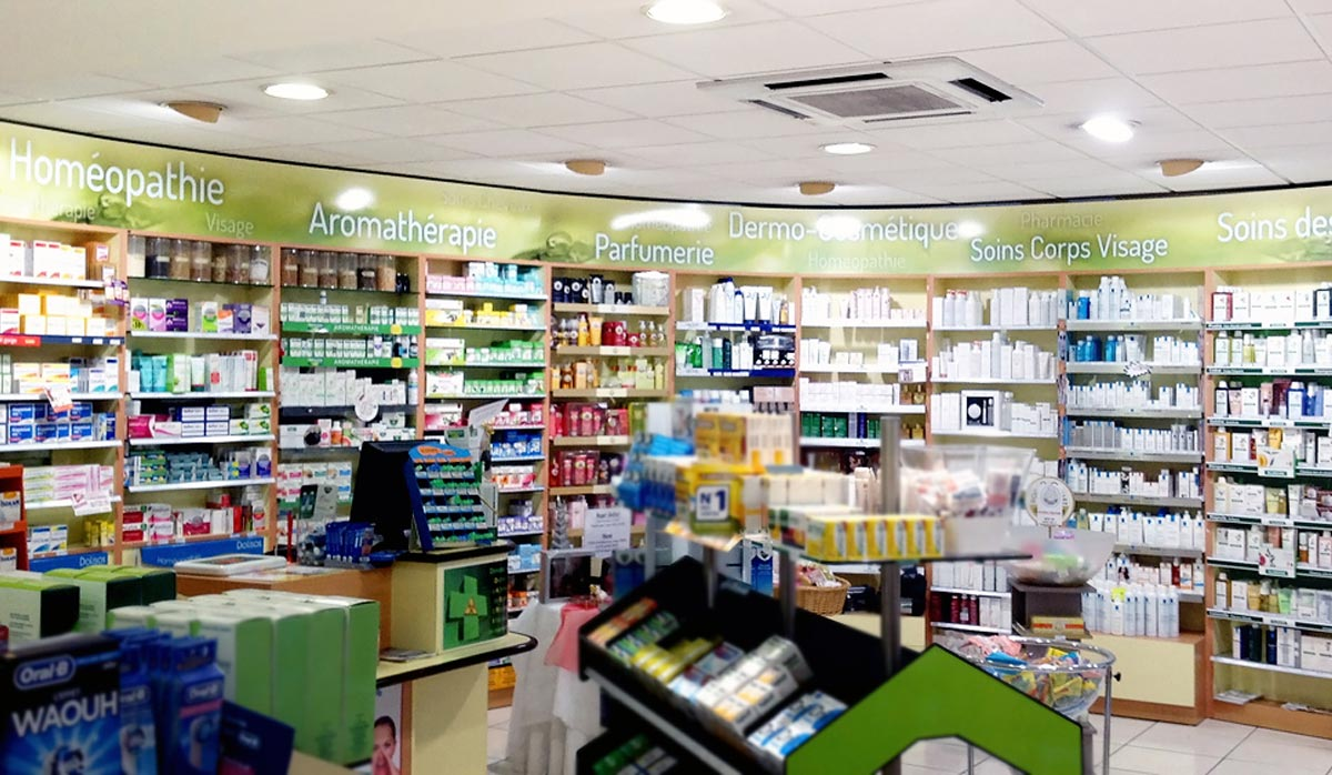 Marquage int rieur enseignes plastimage11 for Amenagement interieur pharmacie